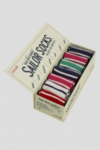 sailor socks packaging design